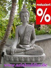 XXL Thai Buddha Budda Figur Statue Feng Shui ca. 40 cm sitzend Steingrau Neu