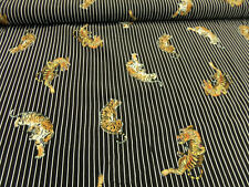 "Hilco Kleiderstoff ""Tiger stripes"" 135 cm br.   je 50 cm 100 % Viskose"