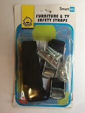 SmartMe TV & Furniture Safety Anti-Tip Straps - 2Pack | Only Metal Parts | - Dur