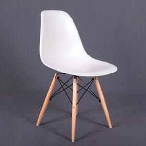 Wooden Dining Chairs Living Room Stools Furniture Dowel Legs Seats Home Decors