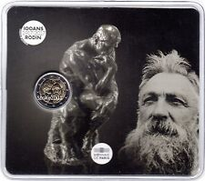 NEW !!! COIN CARD 2 EURO COMMEMORATIVO FRANCIA 2017 Auguste RODIN NEW !!!