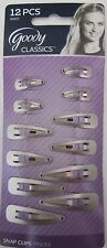 6 Goody Classics 12 Silver Hair Snap Clips Hairstyle accessory 80623 180629300