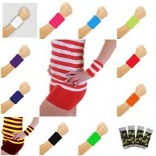 New Men Women Toweling Wrist Band Sports Sweatband Gym Training Towel Band UK