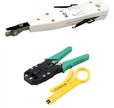 Network Cable RJ45 Cat5e RJ11 Crimper Punch Down Tool Set