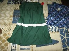 WILSON Womans Tennis Dress, Forest Green/White, Size Medium,88%Polystr12%Spandex