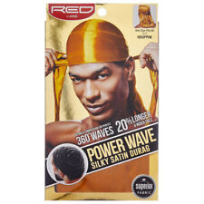 Red Power Wave Silky Satin Durag Longer & Wide Tails Men's Doo Rag Caps *1 Color