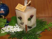 Kerze mit Rosen duftend nette Geschenkidee /  Deko - Duftkerze * Wellness