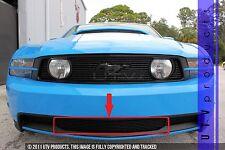 GTG 2010 - 2012 Ford Mustang GT 1PC Gloss Black Overlay Bumper Billet Grille