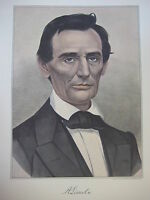 Vintage Currier & Ives America Color Print, A. Lincoln