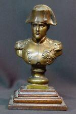 C 19èm buste statue sculpture bronze Napoléon premier 1.7kg21cm militaire