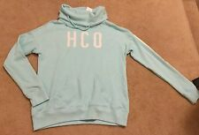 Hollister Women's Turtleneck Sweatshirt Hoodie, Size SMALL, Mint Green, NEW!