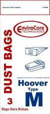 12 pk Hoover Type M Vacuum Dust Bags for Canisters part 113sw-1 Qty 4