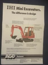 IHI Mini Excavator Leaflet