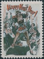 Stamp Replica Label Germany 0237 WWII 1945 Happy New Year Dancing Lady MNH