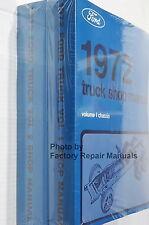 1972 Ford Truck Van Bronco Bus Factory Service Manual Set Shop Repair Reprint