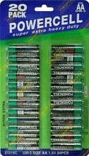 POWERCELL AA Batteries Zinc Carbon 20 pack 1.5v Long Life LR6 Battery Long EXP