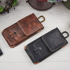 Extra Large Belt Clip Loop Pouch Leather Vertical Holster Case For Cell Phone