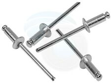 100pcs Metal M4 4x10mm Aluminum Open End Blind Dome Head Rivet Rivets