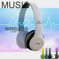 Wireless Bluetooth Headphones Foldable Stereo Super Mic Headset Bass Headse W2J7