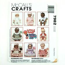 McCall's Pattern · 7982 · Size S M L · Craft Waterbabies Doll Clothes