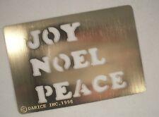 Joy Noel Peace Brass Stencil - Darice, Christmas, Holiday, Stencil