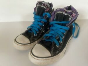 """Youth Girls Sz 12 """"CHUCK TAYLOR"""" Converse All*Star Multicolored Hi-Top Sneakers"""