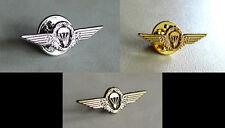 German Germany Army Airborne Parachutist Lapel Pin Bronze - Silver - Gold Set