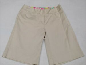 Lilly Pulitzer Beige Sand Color Shorts Women's Size 2 RN# 88189
