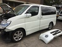 nissan elgrand parts e51 wrecking damaged car elgrand parts in sydney jdm