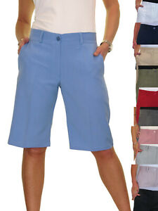 Ladies Smart Summer Casual Day Evening Tailored Knee Length Shorts NEW 8-22
