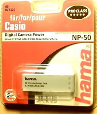 HAMA  NP- 50  AKKU für CASIO EX-V7 Kameras  ORGINALVERPACKT VERSCHWEISST