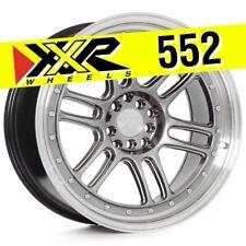 XXR 552 18x10 5-100/5-114.3 +36 Chromium Black Wheels (Set of 4) Fits Subaru WRX