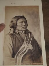 1880 PHOTOGRAPH OF YAMAPI A RUNNER FOR CHIEF OURAY UTE by 4204 WH JACKSON DENVER