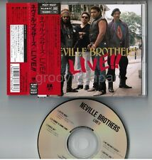 THE NEVILLE BROTHERS Live!! JAPAN CD w/OBI PCCY-10237 Free S&H/P&P