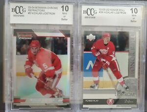 02/03 UD Honor Roll #26 Nicklas Lidstrom GRADED 10 Mint!!! BccG