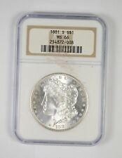 MS66 - RARE - 1881-S Morgan Silver Dollar - Near Perfect - NGC Graded! *648