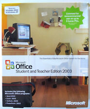 Microsoft Office Student and Teacher Edition 2003 Word Excel Outlook Powerpoint