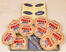 Vintage Piel's Light Beer Advertising Coaster & Opener Boxed Set