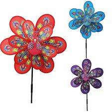 New Peacock Windmill Wind Spinner Decoration Home Yard Garden Decor