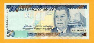 Honduras UNC 50 Lempiras 2010 P-94b Banknote