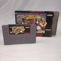 Street Fighter II Turbo Super Nintendo SNES Cartridge w/Box, Tested and Working