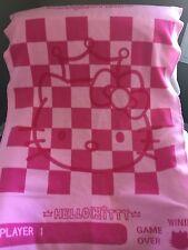 SANRIO 2003 HELLO KITTY Pink Checkerboard Game 2 Player Throw Fleece BLANKET HTF