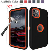 For iPhone 11 Pro Max Armor Hybrid Case Belt Clip Holster Cover+Screen Protector