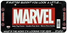 Marvel Comics Deadpool S'Matter Buddy? Black Plastic Auto License Plate Frame