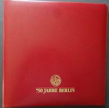 NO13-2) 750 Jahre Berlin Sammlung im Borek Album 2 Alben 35 FDC Schmuck FDC