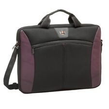 Wenger Sherpa Slim Black/Burgundy 16 inch Laptop Computer Bag Durable