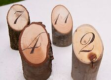 Wooden Table Numbers for Rustic Wedding or Event