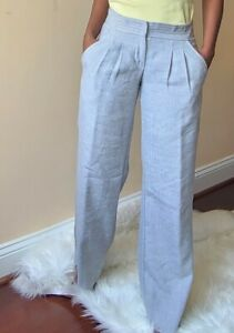 Twelfth Street by Cynthia Vincent Gray Career Dress Pants Size 4 Made in USA