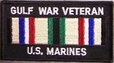 Embroidered Patch Gulf War Veteran Marine Corps Desert Storm Service Ribbon  NEW