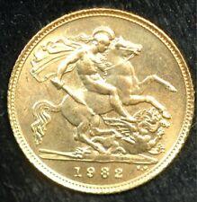 More details for half sovereign 1982 elizabeth ii 22ct gold (t112)